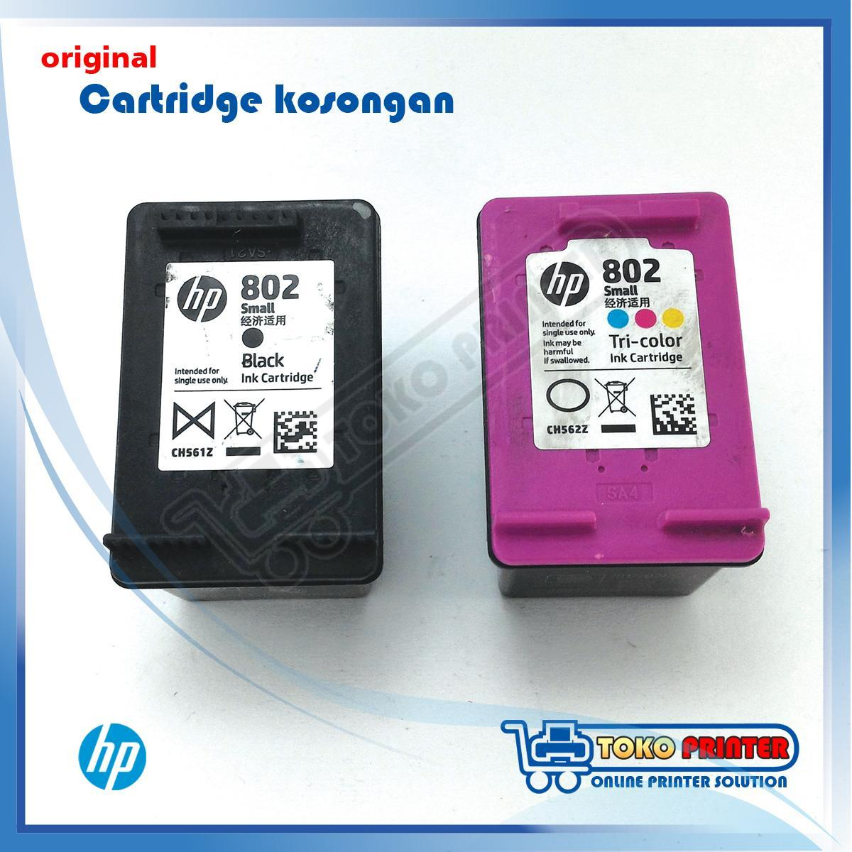 Cartridge Kosongan HP 802 Warna+Hitam