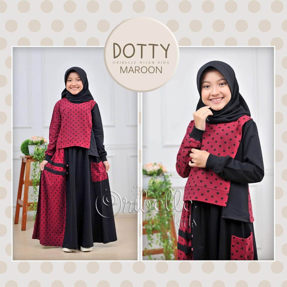 Setelan Anak Dotty Marun by Oribelle Kids