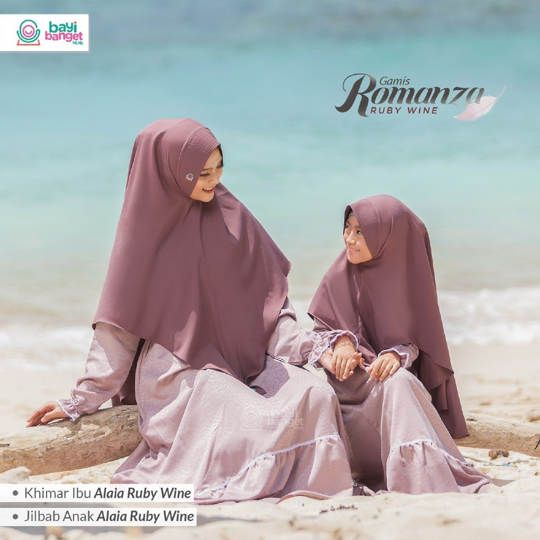 Gamis Couple Romanza Ruby Wine