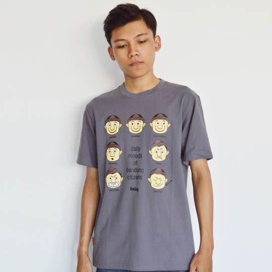 Kaos Bandung Baong Daily Moods Cowok