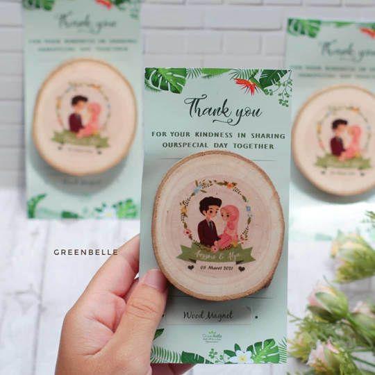 Wood Magnet Alas Kertas - Souvenir Pernikahan