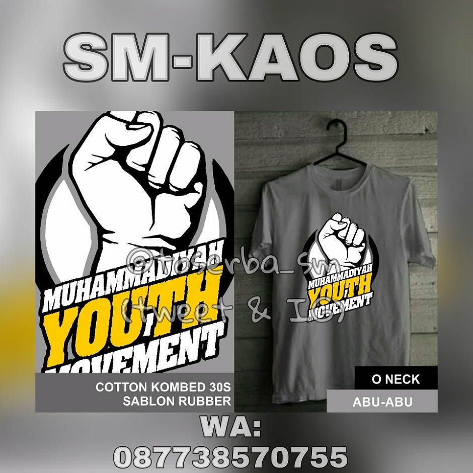 Kaos Muhammadiyah Youth Movement Abu