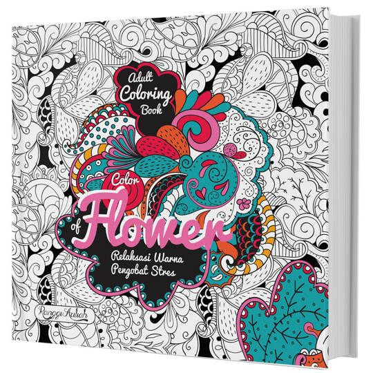 ADULT COLORING BOOK : COLOR OF FLOWER