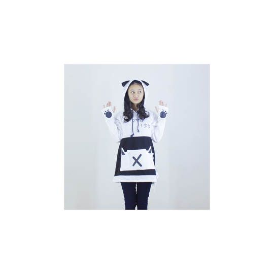 Jaket Cat Pullover White