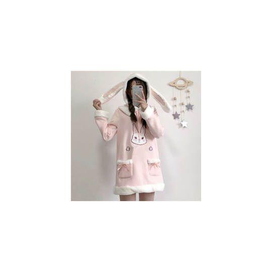 Pink Sweatshirt Dress