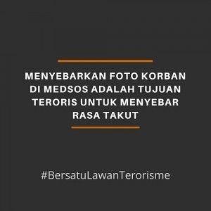 Ledakan di 3 Gereja di Surabaya, Warga Diajak #BersatuLawanTerorisme
