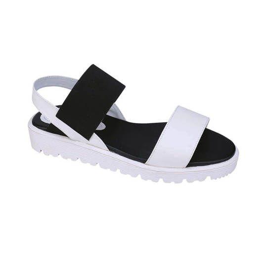 Sandal flat | sandal terbaru | sandal wanita terbaru | Catenzo | Asli 18287