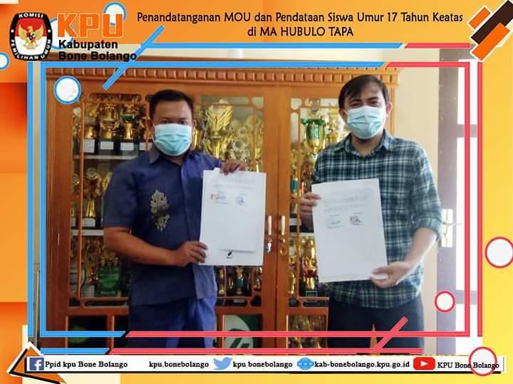 KPU Bonebol Jalin Kerjasama Dengan MA HUBULO