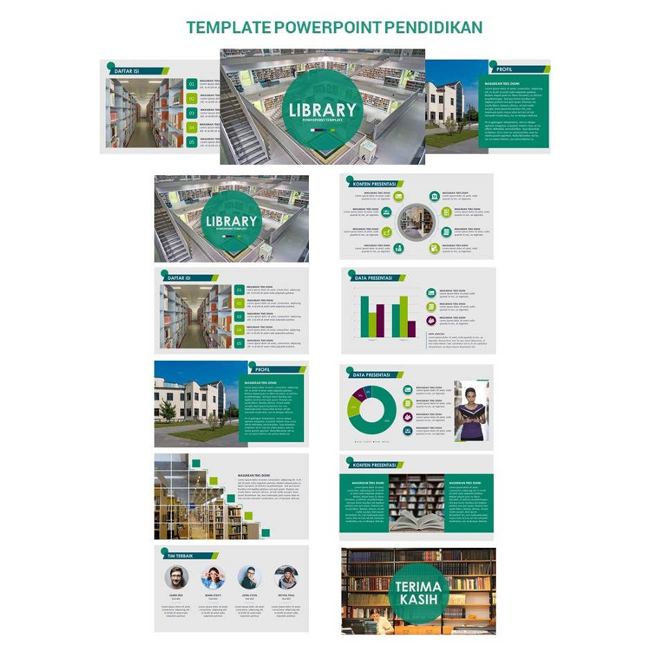 Kode PEH001 - Template Powerpoint Library