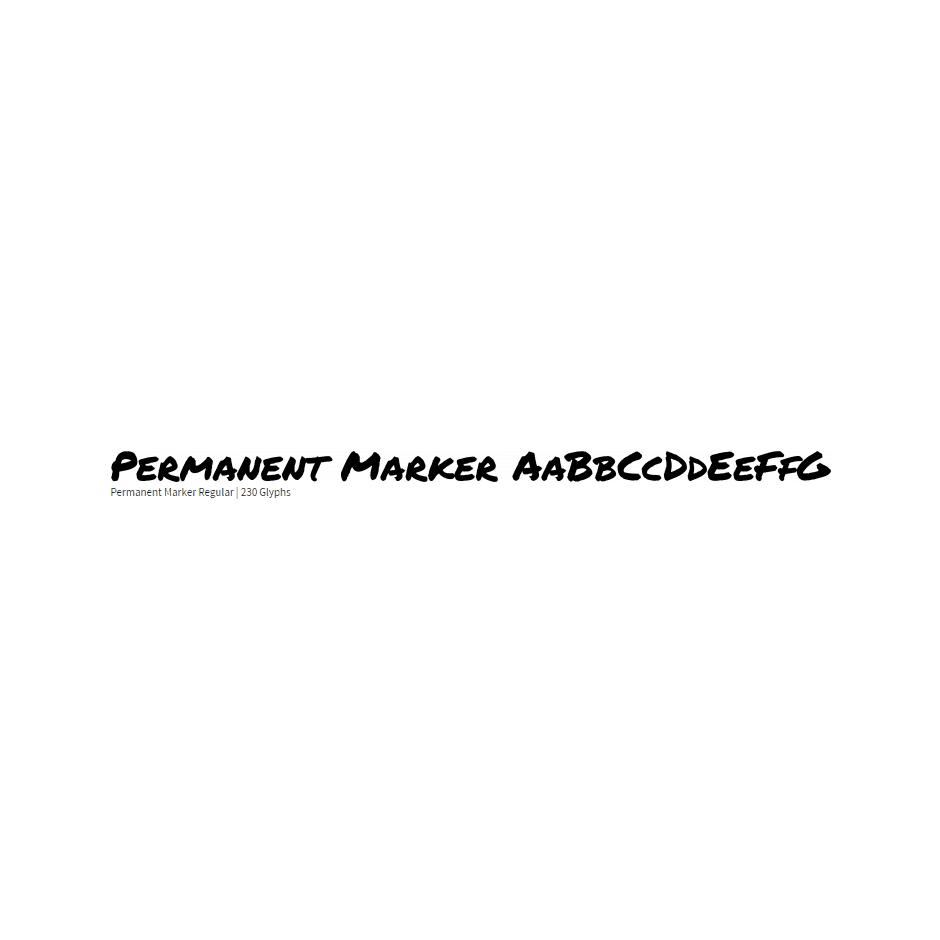 Permanent Marker - Font Diner