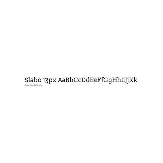 Slabo - Tyro Typeworks