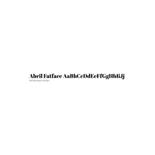 Abril Fatface - TypeTogether