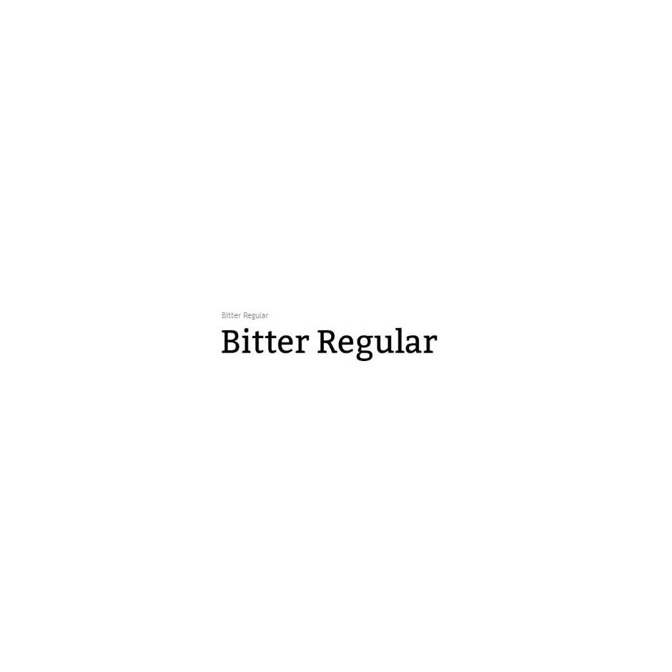 Bitter - Huerta Tipografica