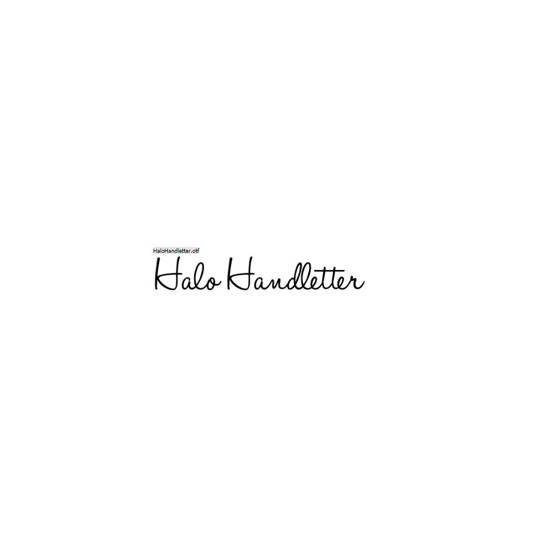 Halo Handletter - Mario Arturo