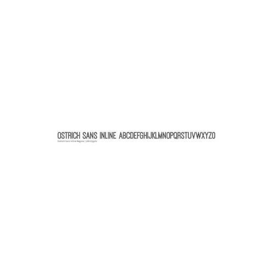 Ostrich Sans Inline - Tyler Finch
