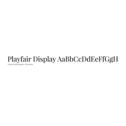 Playfair Display - Muli