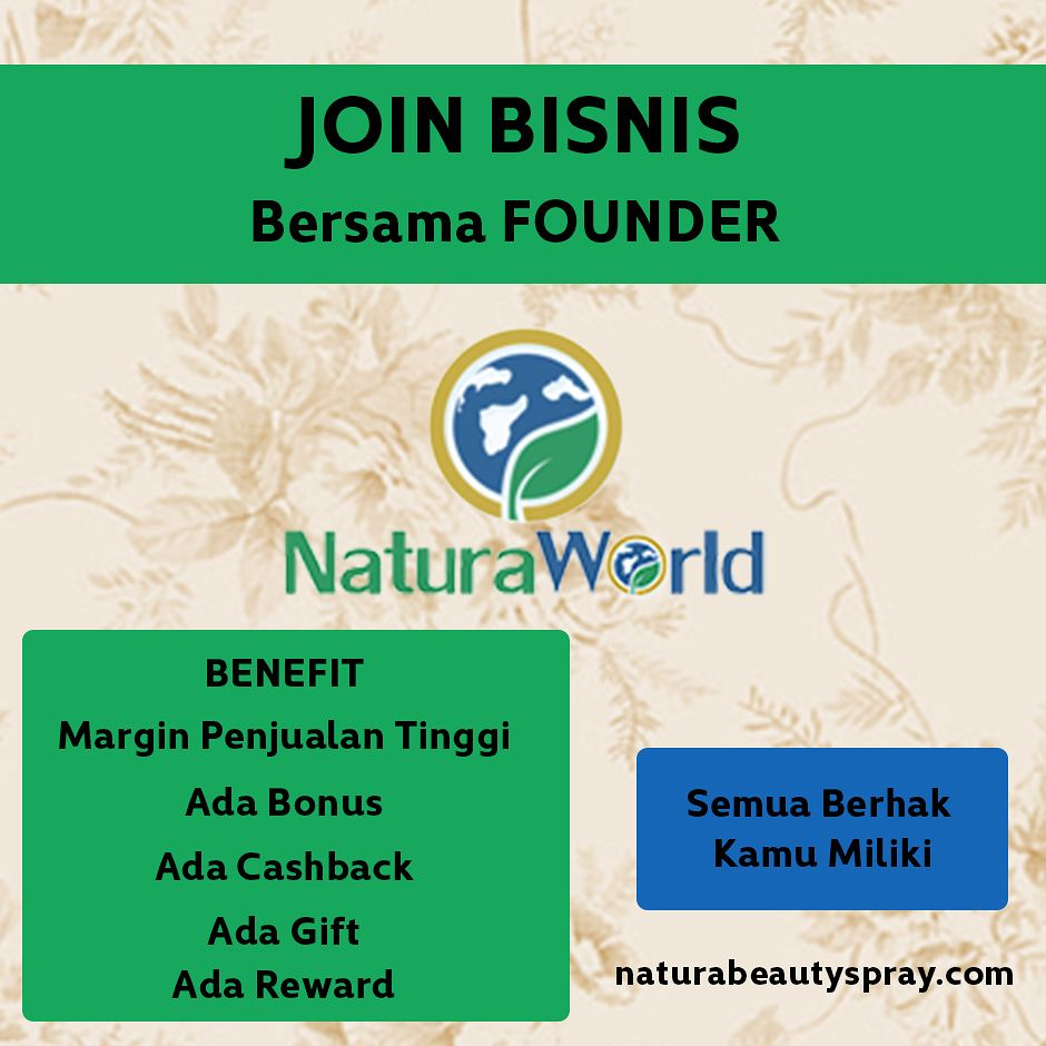Natura World, Bisnis Beauty Spray, Beauty Spray, Sabun