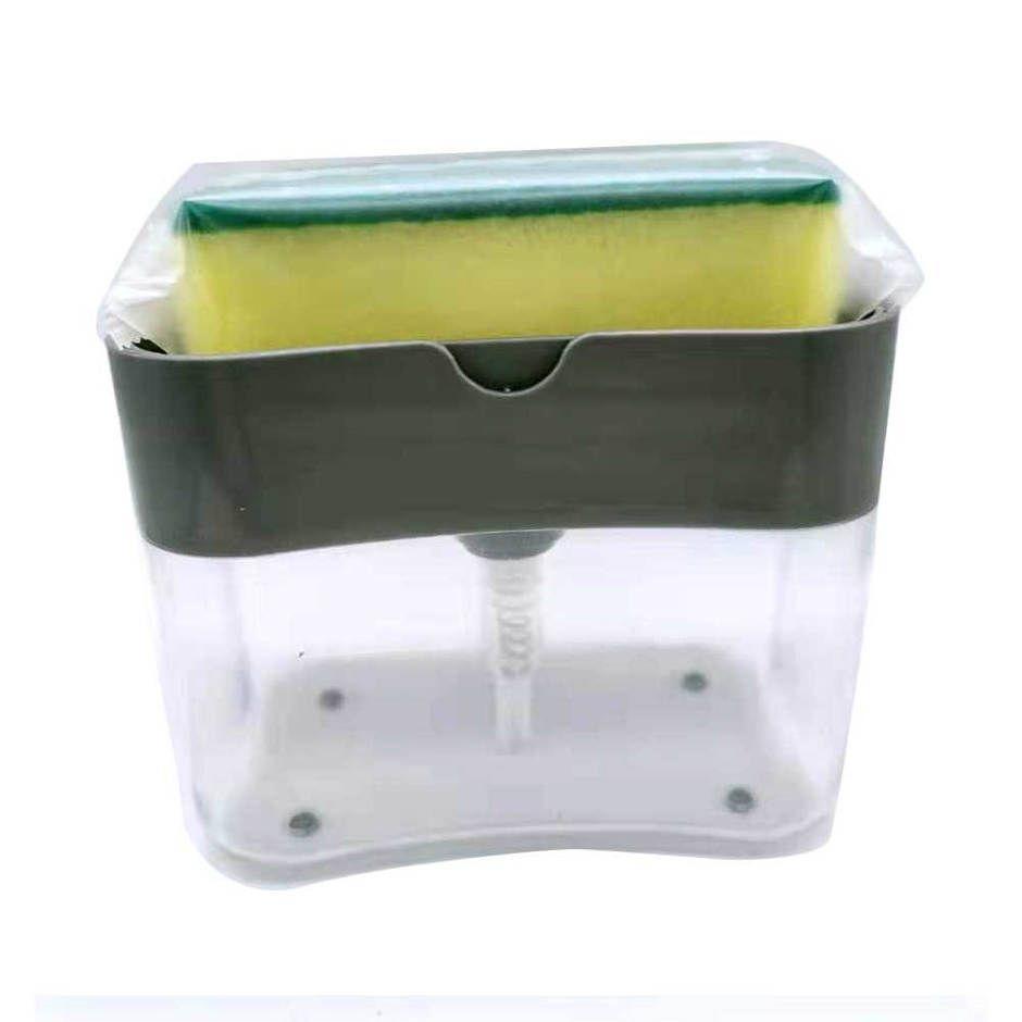 HOUSEEN Kotak Dispenser Sabun Cuci Piring Hand Push Sponge - O933