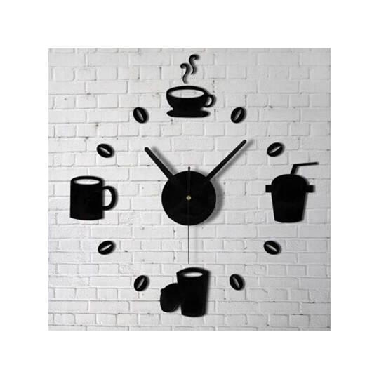 Taffware Jam Dinding DIY Giant Wall Clock Model Kopi Cafe - DIY-07
