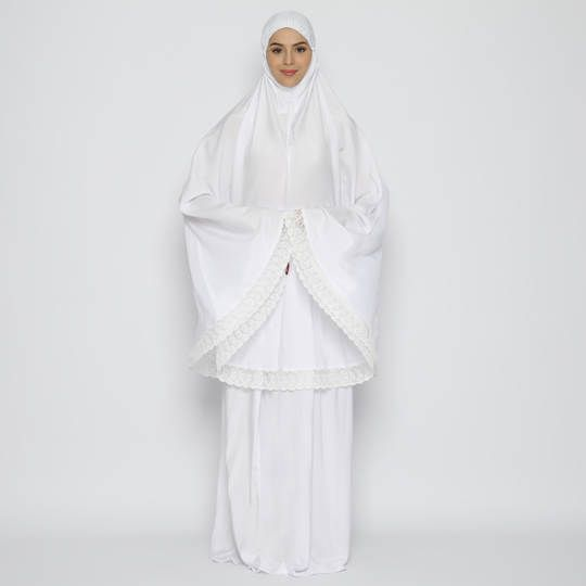 Tatuis Mukena Tiara 467 White Classy Series