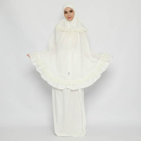 Tatuis Mukena Tiara 475 Broken White Modesty Series